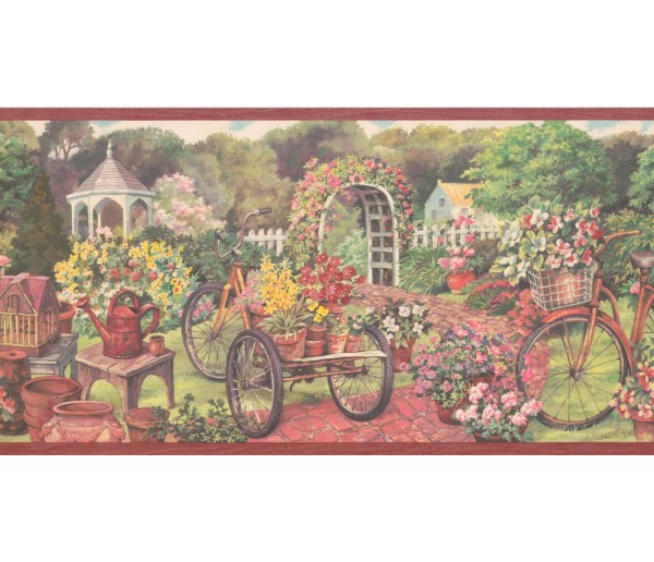 New  Arrivals Wall Borders: Garden Wallpaper Border EG022123B