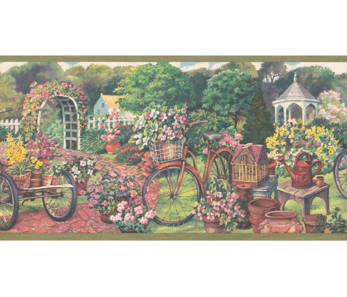 New  Arrivals Wall Borders: Garden Wallpaper Border EG022124B