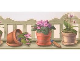 Garden Wallpaper Border EG022151B
