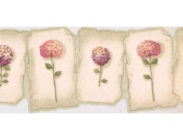 Prepasted Wallpaper Borders - Floral Wall Paper Border EG022163B