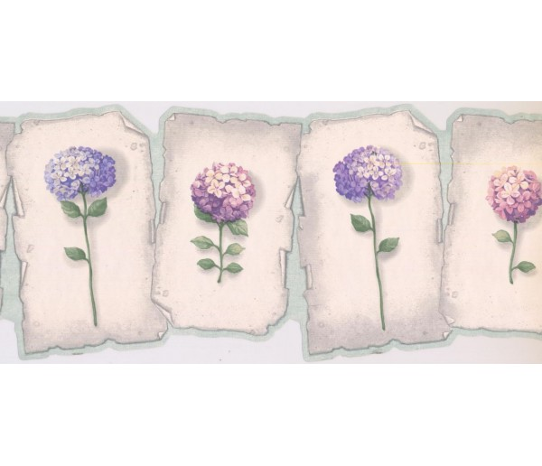 New  Arrivals Wall Borders: Floral Wallpaper Border EG022164B