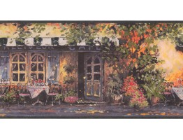 Prepasted Wallpaper Borders - Café Wall Paper Border EG022171B