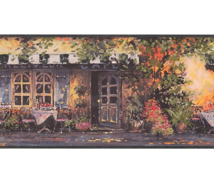 New  Arrivals Wall Borders: Café Wallpaper Border EG022171B