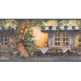 Prepasted Wallpaper Borders - Café Wall Paper Border EG022173B