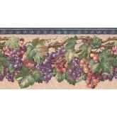 New  Arrivals Wall Borders: Grapes Wallpaper Border EG022201B