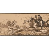 New  Arrivals Wall Borders: Horse and Dogs Wallpaper Border EP7102B