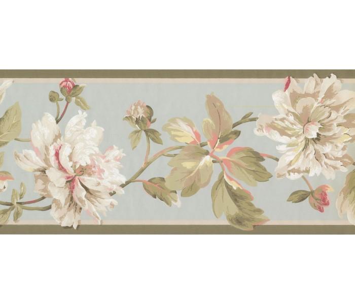 New  Arrivals Wall Borders: Floral Wallpaper Border EP7183B
