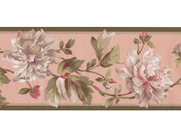 Prepasted Wallpaper Borders - Floral Wall Paper Border EP7184B