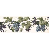 Prepasted Wallpaper Borders - Grapes Wall Paper Border EP7226B