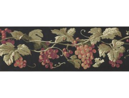 Prepasted Wallpaper Borders - Grapes Wall Paper Border EP7227B