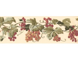 Prepasted Wallpaper Borders - Grapes Wall Paper Border EP7228B