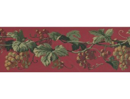 Prepasted Wallpaper Borders - Grapes Wall Paper Border EP7229B