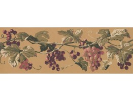 Prepasted Wallpaper Borders - Grapes Wall Paper Border EP7230B