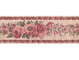 Prepasted Wallpaper Borders - Floral Wall Paper Border FE31359B