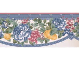 Prepasted Wallpaper Borders - Floral Wall Paper Border FM24133B