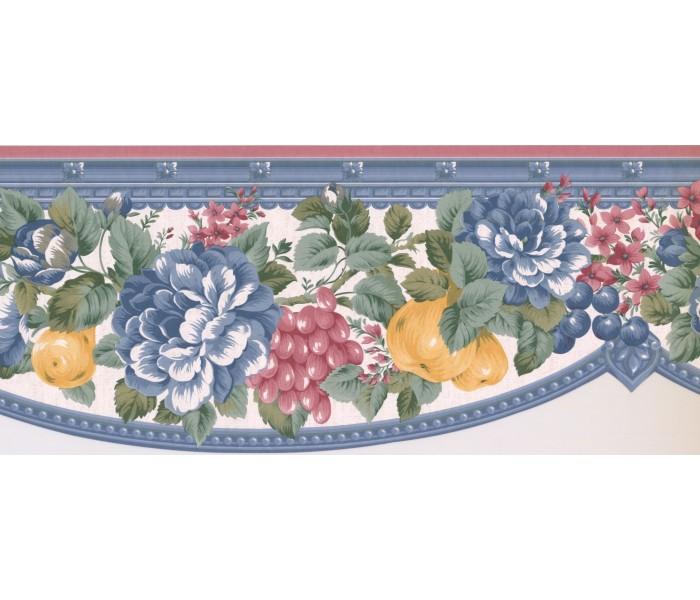 New  Arrivals Wall Borders: Floral Wallpaper Border FM24133B