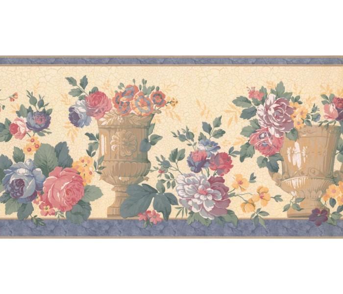 New  Arrivals Wall Borders: Floral Wallpaper Border FM24183B
