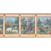 New  Arrivals Wall Borders: Garden Wallpaper Border FN104714