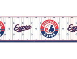 6 1/2 in x 15 ft Prepasted Wallpaper Borders - Baseball Wall Paper Border FP594307