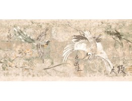 9 in x 15 ft Prepasted Wallpaper Borders - Birds Wall Paper Border FR4954B