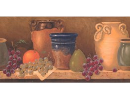 Prepasted Wallpaper Borders - Kitchen Wall Paper Border FR4961B