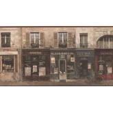 New  Arrivals Wall Borders: Café Wallpaper Border FR5062B
