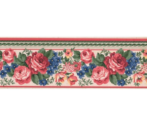 New  Arrivals Wall Borders: Floral Wallpaper Border FR851B