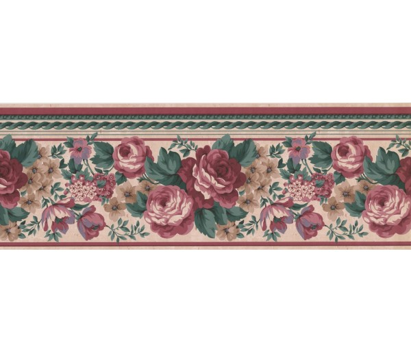 New  Arrivals Wall Borders: Floral Wallpaper Border FR852B