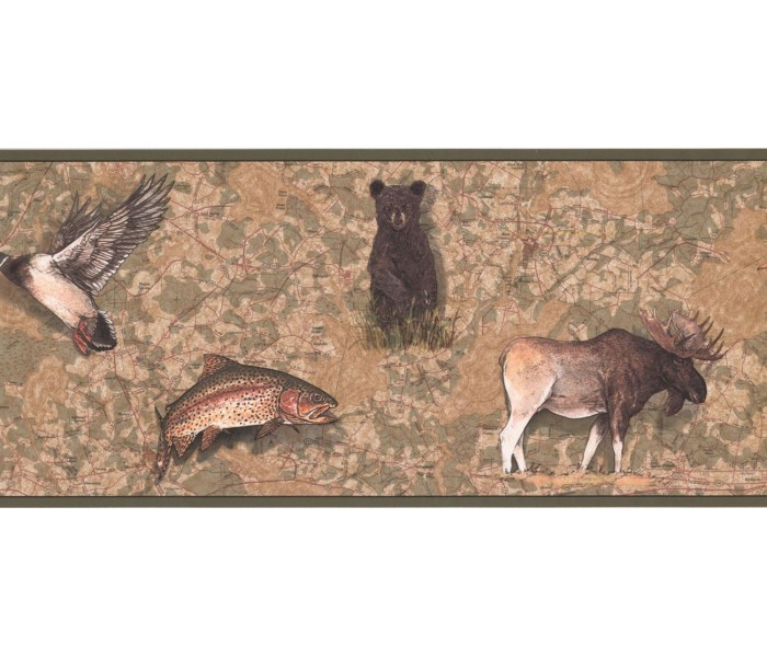 New  Arrivals Wall Borders: Jungle Animals Wallpaper Border FS4955B