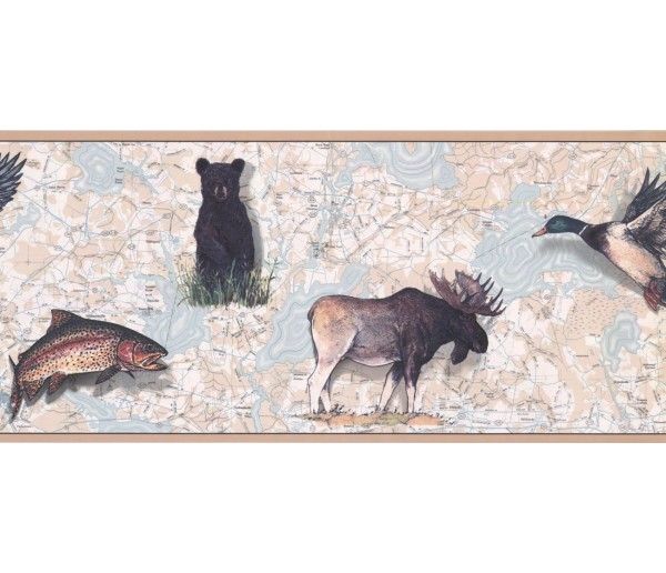 New  Arrivals Wall Borders: Jungle Animals Wallpaper Border FS4956B