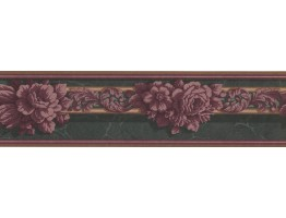 Prepasted Wallpaper Borders - Floral Wall Paper Border GG101842B