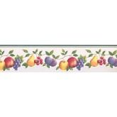 New  Arrivals Wall Borders: Fruits Wallpaper Border GH74100B