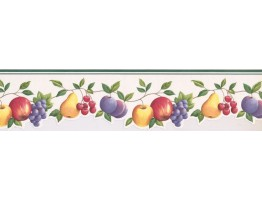 Prepasted Wallpaper Borders - Fruits Wall Paper Border GH74100B