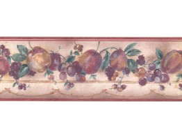 7 in x 15 ft Prepasted Wallpaper Borders - Fruits Wall Paper Border GL038B