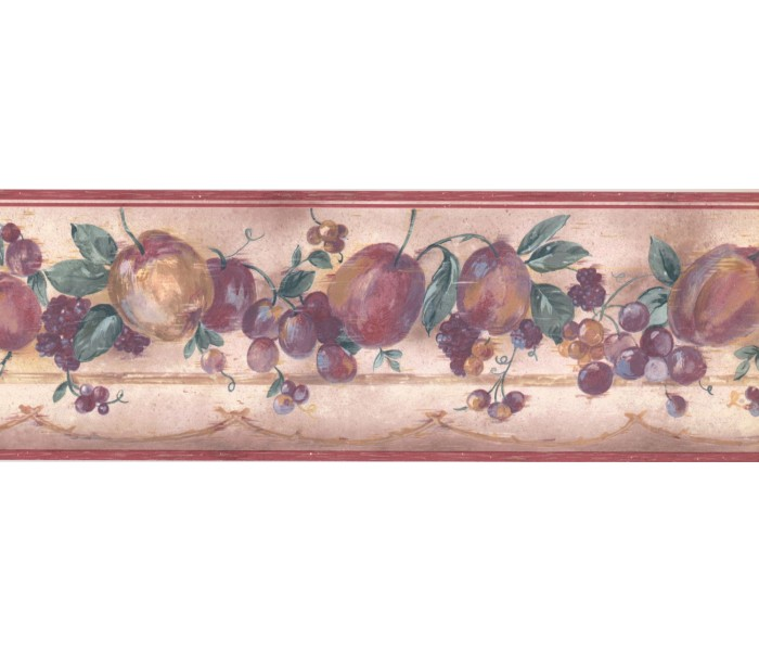 New  Arrivals Wall Borders: Fruits Wallpaper Border GL038B