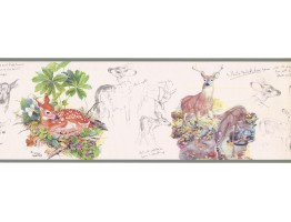 Prepasted Wallpaper Borders - Deer Wall Paper Border GL76360