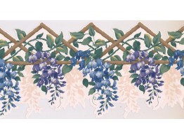 Prepasted Wallpaper Borders - Floral Wall Paper Border GS254B