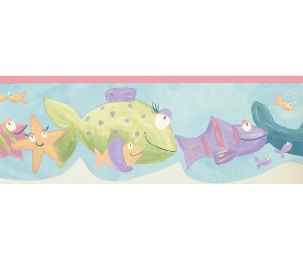 Prepasted Wallpaper Borders - Fishes Wall Paper Border GU79242DC