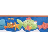 New  Arrivals Wall Borders: Fishes Wallpaper Border GU79243N