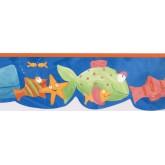 Prepasted Wallpaper Borders - Fishes Wall Paper Border GU79243N