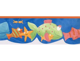 Prepasted Wallpaper Borders - Fishes Wall Paper Border GU79243N