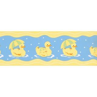 6.875 in x 15 ft Prepasted Wallpaper Borders - Ducks Wall Paper Border GU79254