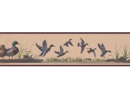 Prepasted Wallpaper Borders - Birds Wall Paper Border HB741B
