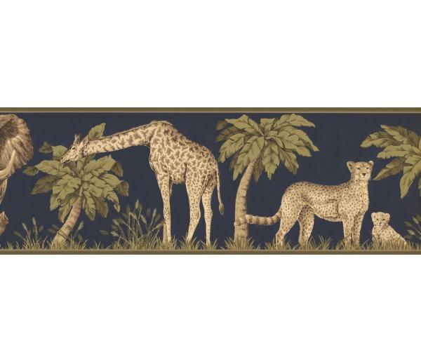 New  Arrivals Wall Borders: Jungle Animals Wallpaper Border HE3541B