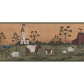 New  Arrivals Wall Borders: Lighthouse Wallpaper Border HF8512B