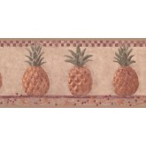 New  Arrivals Wall Borders: Pineapple Fruits Wallpaper Border HF8648B