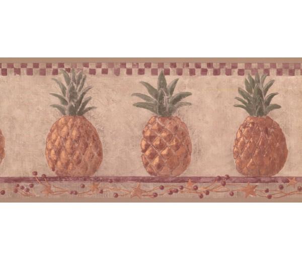 New  Arrivals Wall Borders: Pineapple Fruits Wallpaper Border HF8648B
