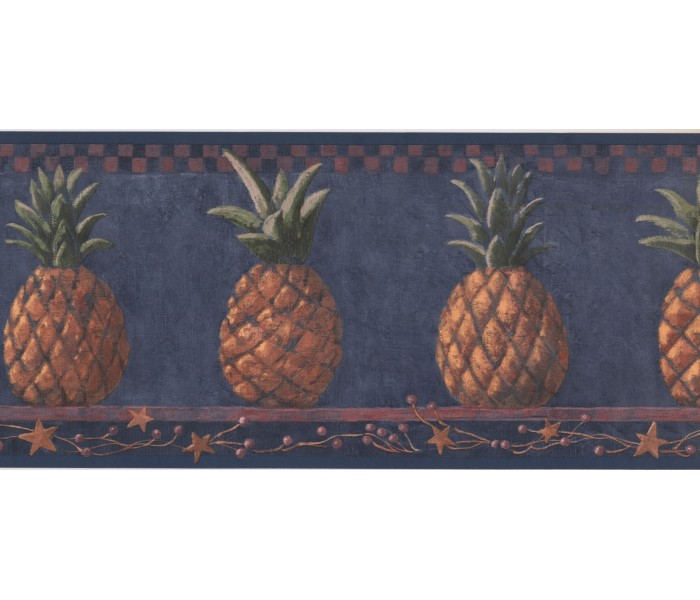 New  Arrivals Wall Borders: Pineapple Fruits Wallpaper Border HF8649B