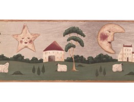 Sun, Moon and Star Wallpaper Border HF8675B