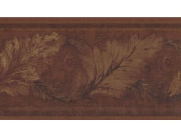 Prepasted Wallpaper Borders - Leaves Wall Paper Border HG9163B